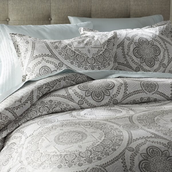 Apollo Medallion 150 Thread Count 100% Cotton Reversible Duvet Set by Mercury Row